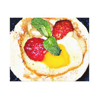 Spa food strawberry dessert canvas prints