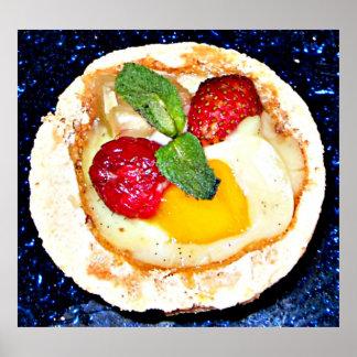 Spa food strawberry dessert poster