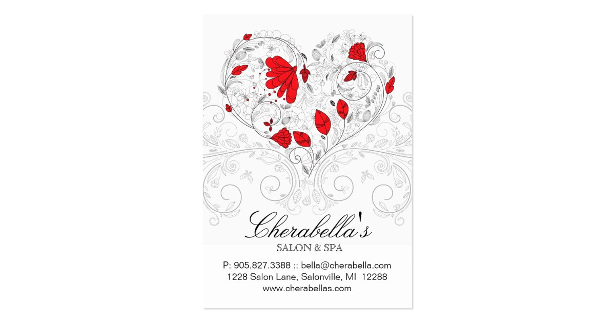 Salon gift card spa flower floral red hearts zazzle reheart Image collections