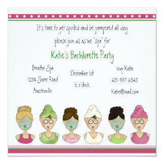 Spa Girls Invitation