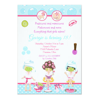 Spa Girls Pamper Birthday Party Card