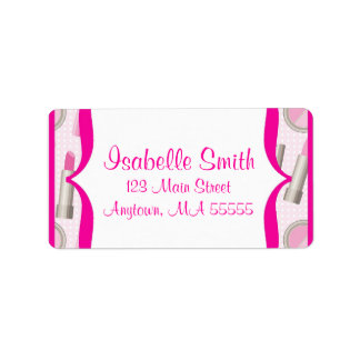 Spa Glamour Girl Birthday Party Address Labels