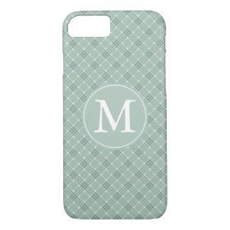 Spa Green Plaid Stripes Monogram iPhone 7 Case