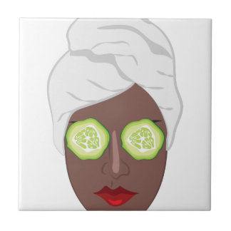 Spa Lady Small Square Tile