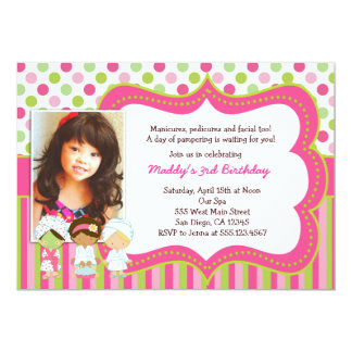 Spa Manicure Pedicure Birthday Party invitations