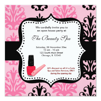 Spa Open House celebration Card