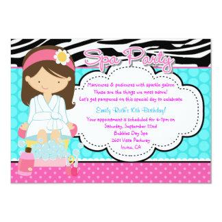Spa Party 11 Cm X 16 Cm Invitation Card