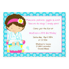 Spa Party Blue Dots Card