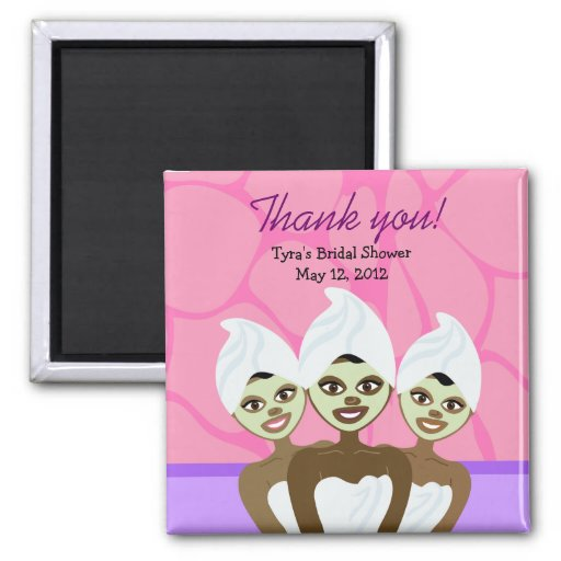SPA PARTY Bridal Shower or Birthday Favor Magnet