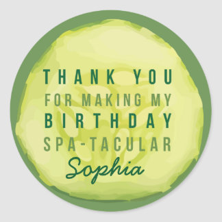 Spa Party Cucumber Label