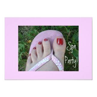 Spa Party Invitations! 13 Cm X 18 Cm Invitation Card