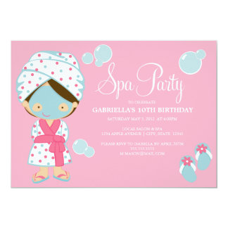 Spa Party   Pink Party Invite