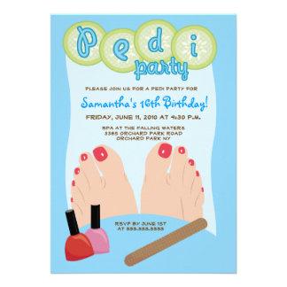 SPA PEDICURE Pedi Party Invitation 5x7