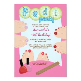 """SPA PEDICURE Pedi Party Invitation 5x7 5"""" X 7"""" Invitation Card"""