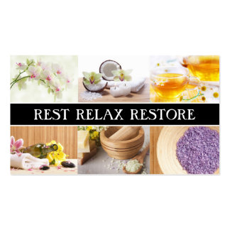 Spa & Relaxation Center Rest Relax Restore Card Pack Of Standard Business Cards