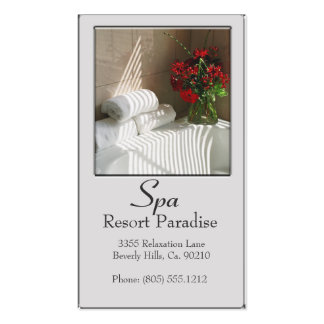 Spa Resort Paradise Massage Business Card