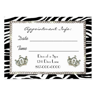 Spa / Salon Appointment Cards Business Card Template