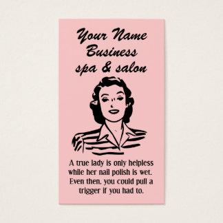 Spa Salon Beautician Unique Business Card