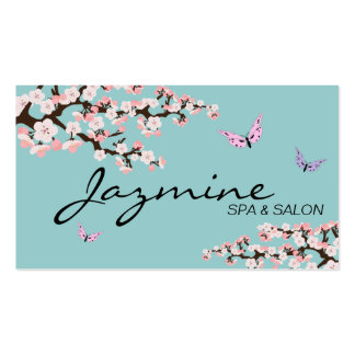 Spa & Salon Business Card - Cherry Blossoms