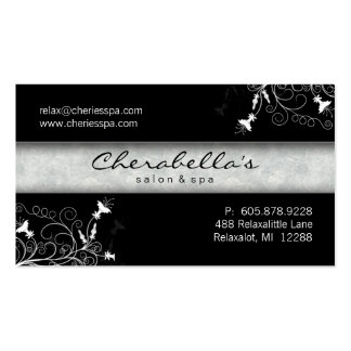 Spa - Salon Elegant Black & White Business Card