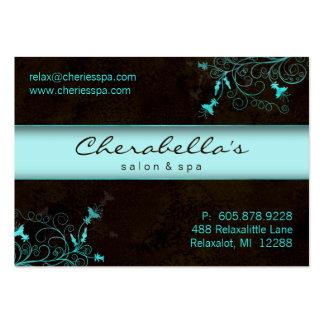 Spa - Salon Flower Elegant Turquoise Gift Card Business Card