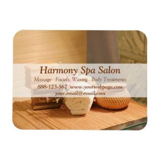 Spa Salon Massage Bar Towels Flowers Rectangular Photo Magnet