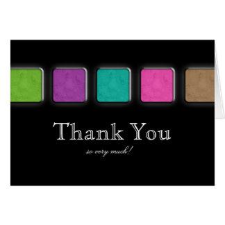Spa Salon Thank You Card Makeup Artist Palette