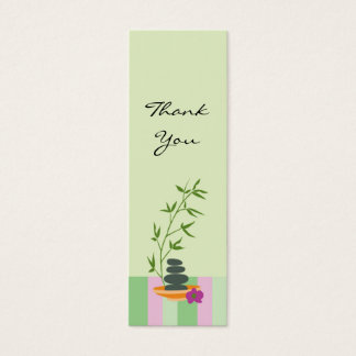 Spa Theme Gift or Favor Tag Mini Business Card