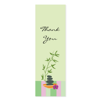 Spa Theme Gift or Favor Tag Pack Of Skinny Business Cards
