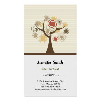 Spa Therapist Appointment - Elegant Natural Pack Of Standard Business Cards