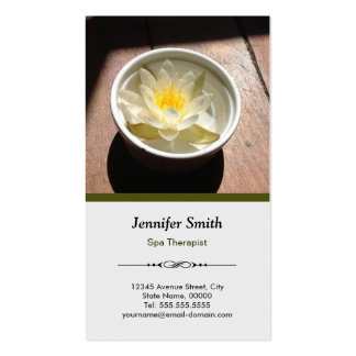 Spa Therapist Aromatherapy Water Lily Appointment Pack Of Standard Business Cards