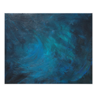 Space Abstract Art Poster