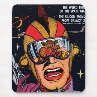 Space Action #2 Vintage Sci Fi Comic Book Cover Mouse Pad
