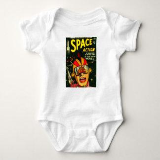 Space Action: Eek!  A Monster! Baby Bodysuit