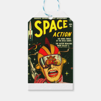 Space Action: Eek!  A Monster! Gift Tags