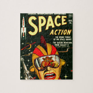 Space Action: Eek!  A Monster! Jigsaw Puzzle