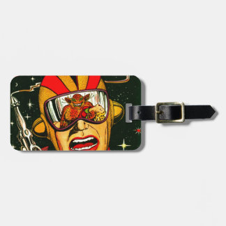 Space Action: Eek!  A Monster! Luggage Tag