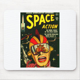 Space Action: Eek!  A Monster! Mouse Pad