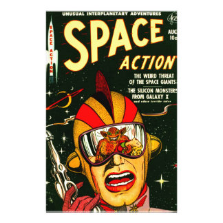 Space Action: Eek!  A Monster! Stationery