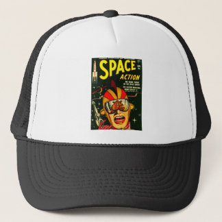 Space Action: Eek!  A Monster! Trucker Hat