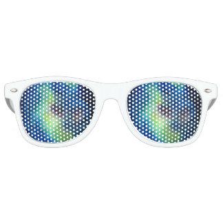 Space Adult Retro Party Shades, White Retro Sunglasses