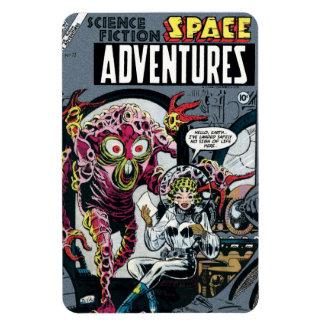 Space Adventures #12 Funny 50s Retro Sci Fi Comic Magnet