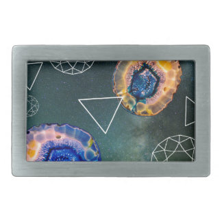 Space Agate Rectangular Belt Buckle