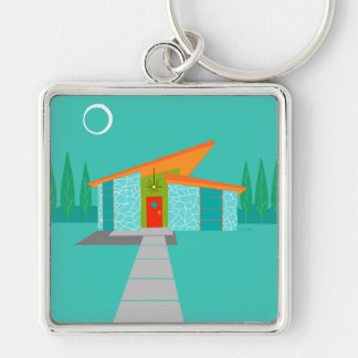 Space Age Cartoon Premium Keychain
