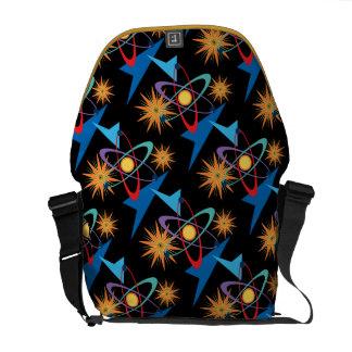 Space Age Retro Multicolored Pattern Commuter Bag