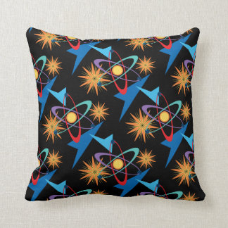 Space Age Retro Multicolored Pattern Throw Pillow