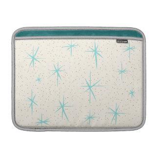 Space Age Turquoise Starbursts MacBook Air Sleeve