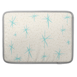 Space Age Turquoise Starbursts MacBook Pro Sleeve For MacBooks