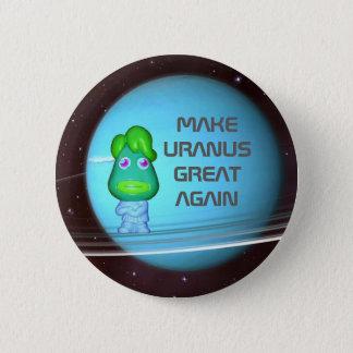 Space Alien Trump Make Uranus Great Again 6 Cm Round Badge
