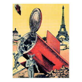 Space Aliens Invade Paris Postcard